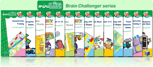miniLUK Brain Challenger series Workbooks set/NO CONTROLLER